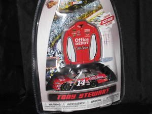 Tony Stewart #14 Office Depot Black Roof Old Spice Chevy Impala SS COT 1/64 Scale Diecast & Bonus Mini-Replica Uniform Magnet 2010 Winners Circle Edition