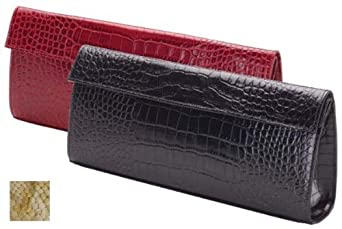 Raika Leather Large Clutch with Magnetic Closure