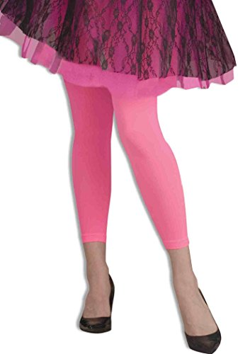 Forum Novelties Women's Novelty Footless Tights, Neon Pink, One Size