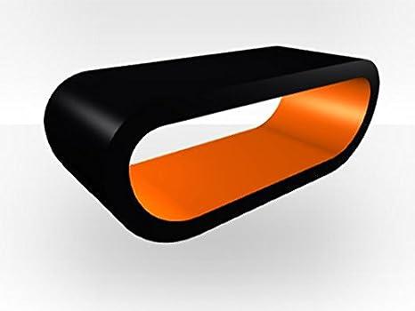 Black Outer Oddball Coffee Table - Orange Gloss Inner