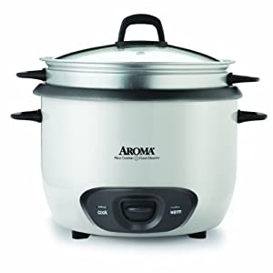 Aroma ARC-740-1NG 20-Cup (Cooked) Rice Cooker and Food Steamer by Aroma