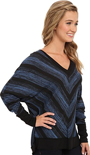 Lucy Love Juniors Moscow Sweater, Blue Thunder, Small