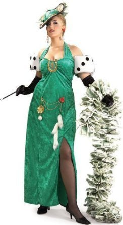 Rubies Costume Co Lady Luck Plus Size Costume (Boa and Cigarette Holder not included)