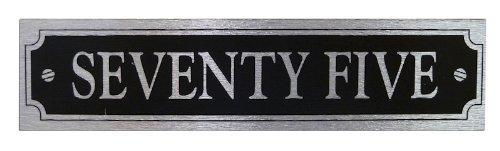 Written House Number 'Seventy Five' - Self Adhesive Brushed Aluminium
