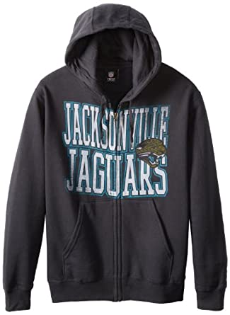 NFL Jacksonville Jaguars Touchback V Full Zip Hooded Sweatshirt, Black, X-Large by VF LSG
