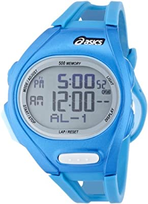 Asics Men's Race CQAR0204 Blue Polyurethane Quartz Watch with Digital Dial from Asics
