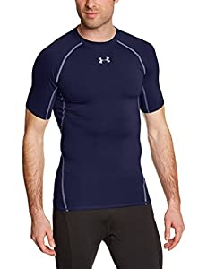 Under Armour Herren Fitness T-Shirt und Tank HG Short Sleeve Tee, Midnight Navy, XL, 1257468