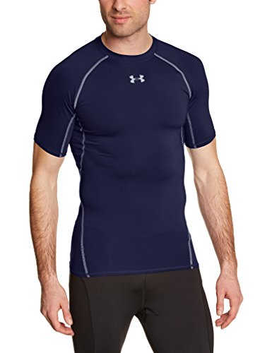 Under Armour UA Hg SS T-Shirt con Maniche Corte Uomo - Blu (Midnight Navy) - XL
