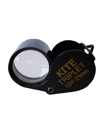 Kite loupe Triplet GROSSISSEMENT X10 CAMPING CHASSE (-10 x diamètre frontale) 21 mm noir