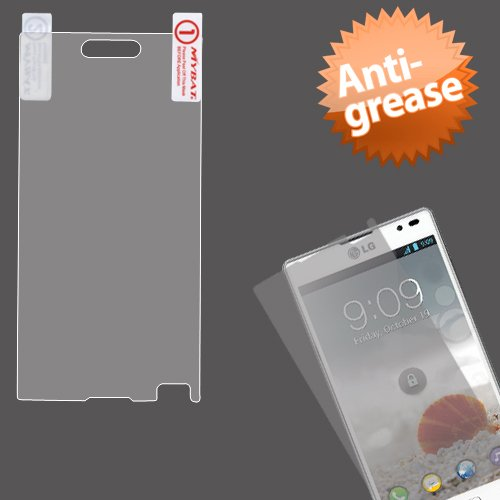 Cell Accessories For Less (Tm) Lg P769 (Optimus L9) Anti-Grease Lcd Screen Protector/Clear + Bundle (Stylus & Micro Cleaning Cloth) - By Thetargetbuys
