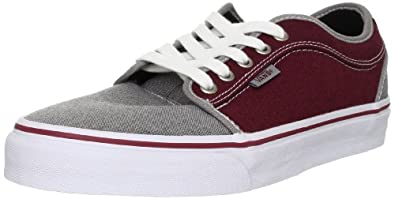 Vans Pro Skate Chukka Low Shoes - (Oxford) Grey/Burgundy