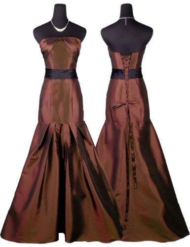qpid showgirl langes abendkleid mit bund farbe braun. Black Bedroom Furniture Sets. Home Design Ideas