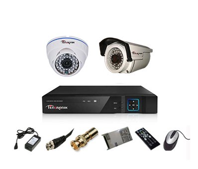 Tentronix-T-4ACH-2-DBA13-4-Channel-DVR,-1(1.3MP)-Dome-,1-(1.3MP)-Bullet-Cameras