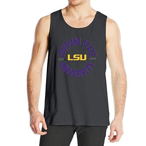 STUAOTO Men's LSU Tigers Baton Rouge Teams Logo Tank Top Black