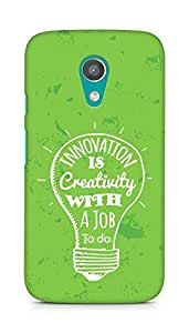 Amez Innovation is Creativity with a Job to do Back Cover For Motorola Moto G2