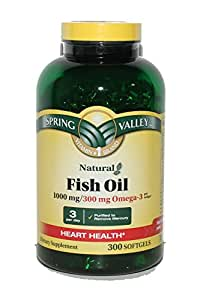 Spring valley fish oil supplement 1000 mg for Spring valley fish oil review