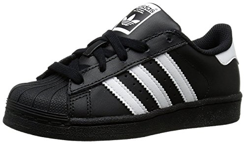 adidas Originals Superstar C Basketball Shoe (Little Kid),Black/White/Black,11 M US Little Kid (Lil Kids Shoes compare prices)