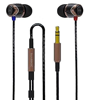 SoundMAGIC E10 Noise Isolating In-Ear Earphones (Black/Gold)
