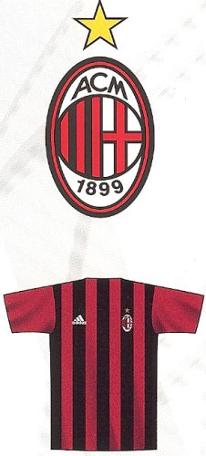 Adidas Home Jersey-acm black/acm red of AC Milan