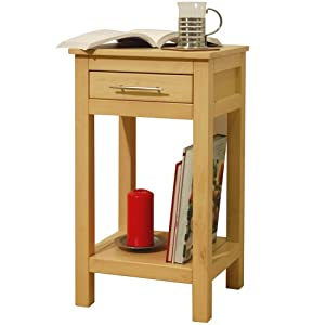 ASPEN - Solid Wood Storage Telephone / End Table - Natural
