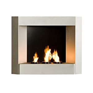 contemporary wall mount gel fuel fireplace silver kitchen dining
