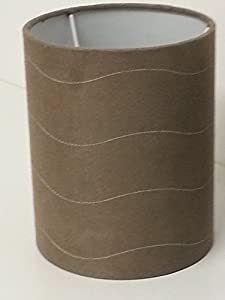Ouse Valley Suede Effect Lamp Shade. Light Chocolate Brown. Pendant for Ceiling Light. by Ouse Valley