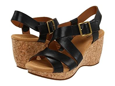 Clarks Elements Harwich Cast Womens Wedge Sandals Black 10