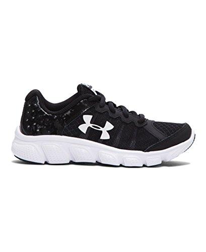 Under Armour Boy's Under Armour Boys' Assert 6 Running Shoes Shoe, black/White, 2 Medium US Toddler (Under Armour Assert Ii compare prices)