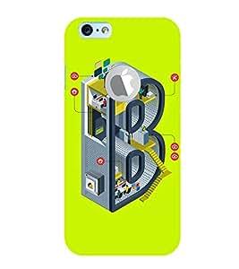 EPICCASE Complex B Mobile Back Case Cover For Apple iPhone 6, 6S Logo Cut (Designer Case)