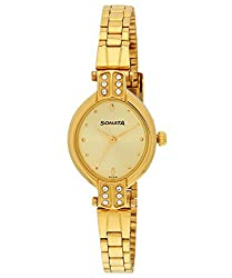 Sonata Analog Gold Dial Womens Watch - NF8064YM01