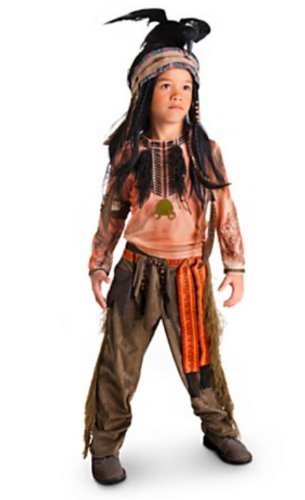 Disney Exclusive The Lone Ranger Deluxe TONTO Costume and Headdress (Child Size 5/6)