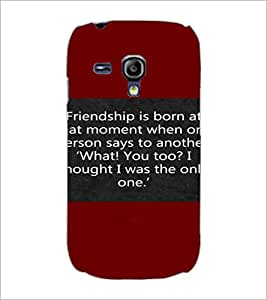 PrintDhaba Quote D-4417 Back Case Cover for SAMSUNG GALAXY S3 MINI (Multi-Coloured)