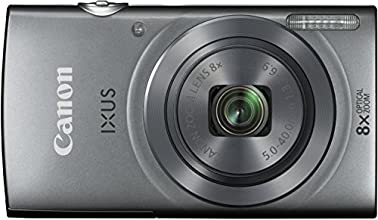 Canon IXUS 160 Digitalkamera (20 Megapixel, 8-fach optisch, Zoom, 16-fach ZoomPlus, 6,8 cm (2,7 Zoll) LCD-Display, HD-Movie 720p) silber