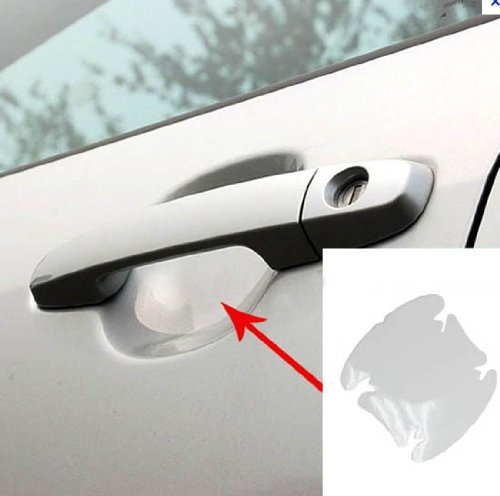 (4) Universal Clear Side Door Handles Paint Scratches Protective Film Vinyl (Car Door Clear compare prices)