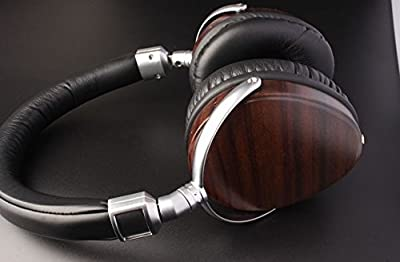 Earond® Natural Audio Headphones Over-Ear Noise Cancelling Over Head Set Luxury Wood Best Fitting Headphones