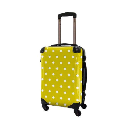 キャラート アートスーツケース ベーシック  ベーシック カラードット フレーム4輪 機内持込 (CRA01-028D(ネーブルスイエロー))