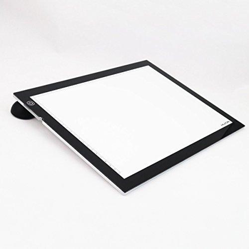 Huion® A3 con luce LED regolabile ed include piedini d'appoggio e carte da lucido tavoletta luminosa 48x36cm. Foto, film, trasferire diapositive, progetti di artigianato, disegno del tessuto, cartone animato, architettura, design e drafting