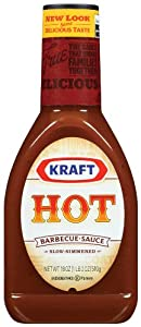 Kraft Hot Barbecue Sauce, 18 Ounce Jars (Pack of 12) by Kraft