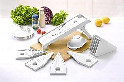 Mandoline Slicer - Vegetable Slicer - Food Slicer - Vegetable Cutter - Cheese Slicer - Vegetable Julienne Slicer with Surgical Grade Stainless Steel Blades