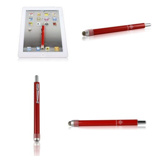 Nano Fabric Retractable Stylus Pen (RED) For Sony S1 Samsung Galaxy Tab Asus Transformer HP TouchPad Acer Iconia Kindle Fire VIZIO Tabllet and NEW IPAD 3 by SecondShells