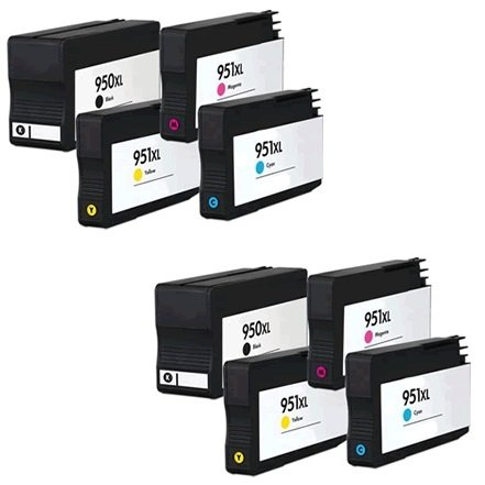 Prestige Cartridge HP 950XL / HP 951XL 8 Cartucce d'Inchiostro Compatibile per Stampanti HP Officejet Pro Serie, Nero/Ciano/Magenta/Giallo