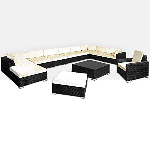 XXL Poly Rattan Lounge 35 tlg Sitzgruppe Sitzgarnitur Gartenmöbel Gartenset Gartengarnitur online kaufen