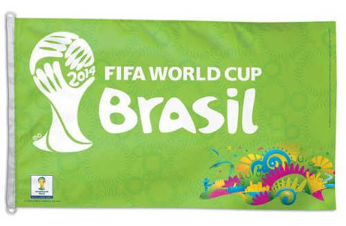 Brazil World Cup 2014 ~ 3'x5' Polyester FIFA Flag