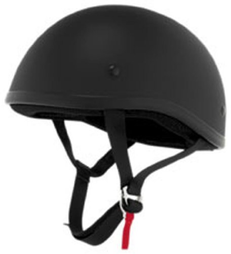 Skid Lid Original Half-Face Motorcycle Helmet Small Flat Black