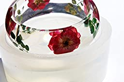 Clear Silicone Bangle Bracelet molds .Size 68mm,height 28mm.{21}