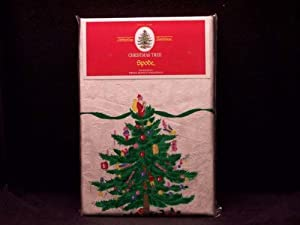 Spode Christmas Tree Tablecloth 52 X 70