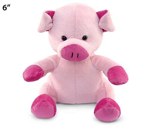 """Puzzled Pig Plush, 6"""""""