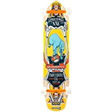 Sector 9 Mini Daisy Complete Skateboard, Yellow, 37.5 x 9.125 x 24.5-25.55-Inch