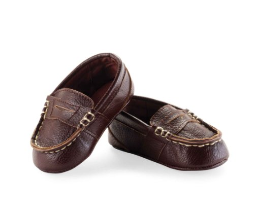 Mud Pie Baby-Boys Newborn Leather Pre Walker Loafers