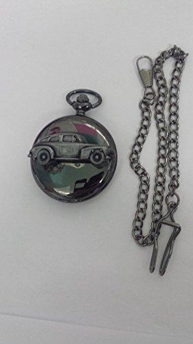 volvo-pv444-ref280-pewter-effect-emblem-polished-black-case-mens-gift-quartz-pocket-watch-fob-made-i